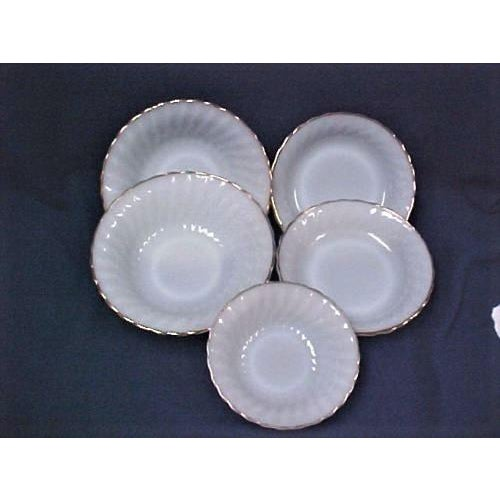 Anchor Hocking White Fire King Bowls - Set of 5 For Sale - Image 4 of 5