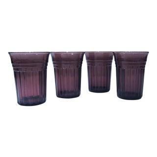 Vintage Amethyst Barware or Juice Glasses - Set of 4 For Sale
