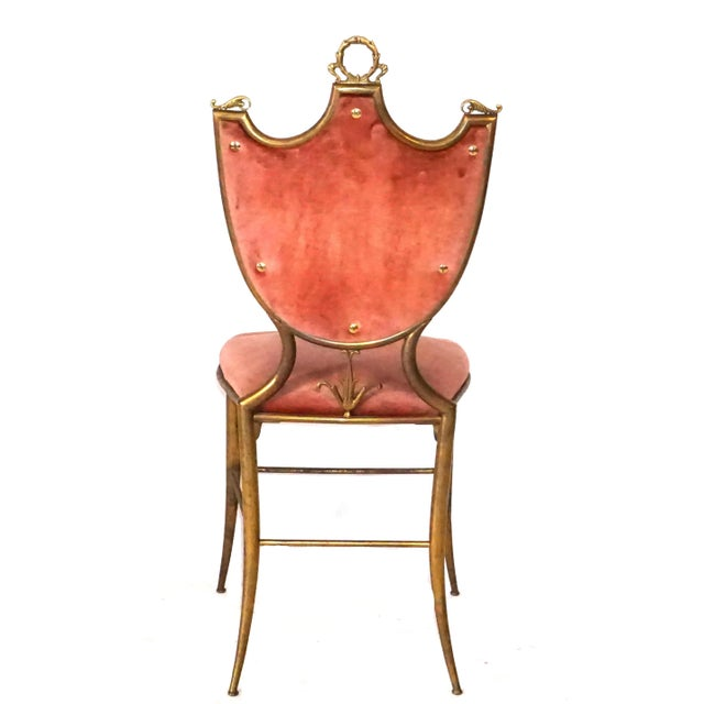 20th Century Italian Neoclassical Style Chairs - a Pair For Sale - Image 4 of 7