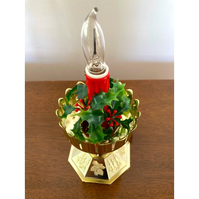 Traditional Vintage Late 20th Century Flameless Hurricane Candle For Sale - Image 3 of 6
