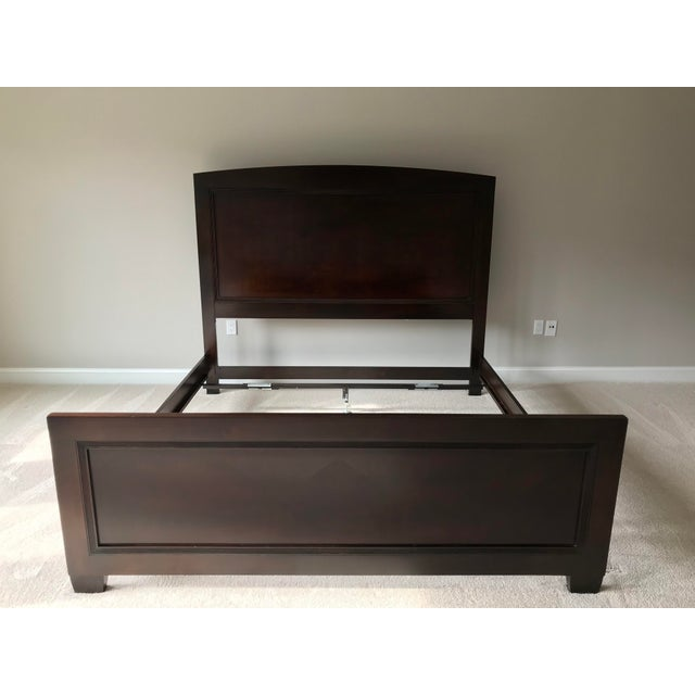 Lexington Nautica Dark Wood King Bed Frame For Sale - Image 10 of 10