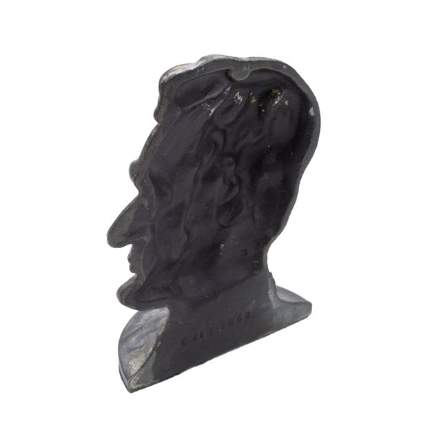 Vintage Abraham Lincoln cast iron bookend. Pleasing patina- weighty! Great presidential addition to any bookcase or...
