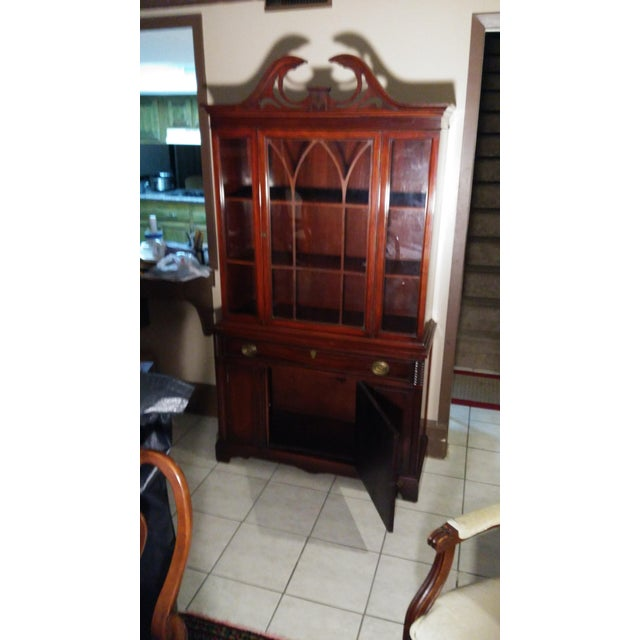 Bernhardt Mahogany Glass Front China Cabinet For Sale - Image 11 of 11
