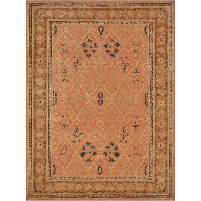 MANSOUR Mansour Handwoven Agra Rug For Sale - Image 4 of 4