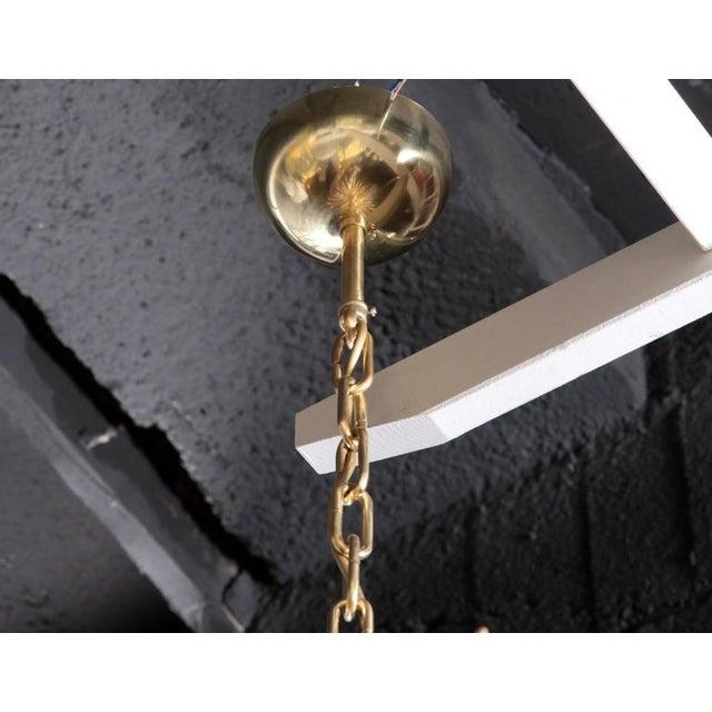 1970s Monumental Brass Sputnik or Urchin Chandelier For Sale - Image 5 of 6