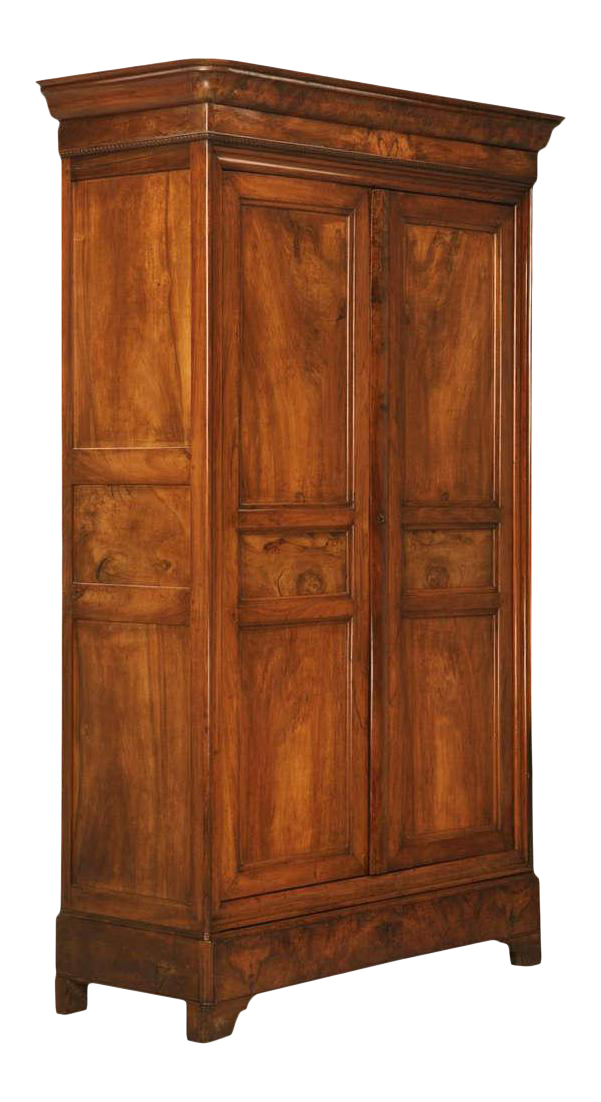Circa 1830 French Louis Philippe Figured Walnut Armoire Époque