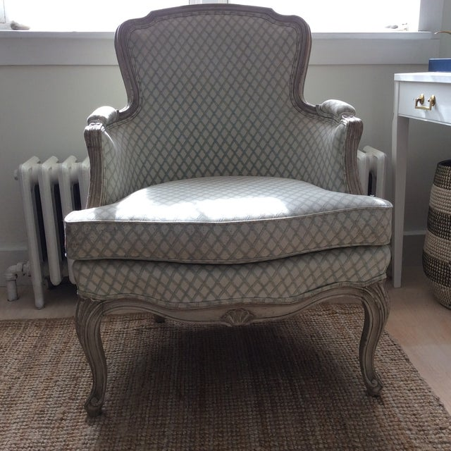 Vintage Louis XVI Bergere Style Chair - Image 2 of 7