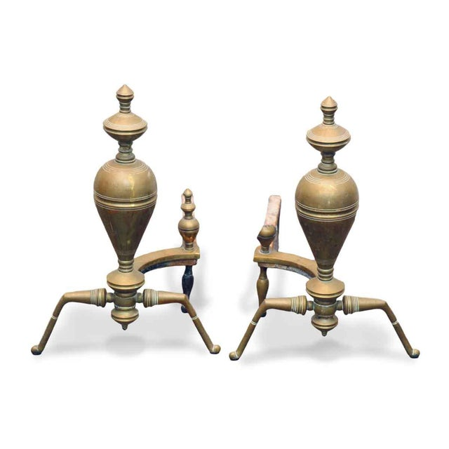Brass & Iron Andirons - A Pair - Image 7 of 7