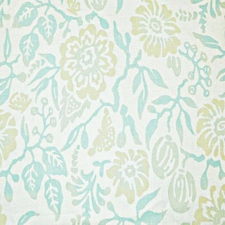 Boho Chic Galbraith & Paul Primitive Flower Linen Designer Fabric by the Yard For Sale