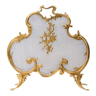Early 20th Century French Louis XV Fire Screen For Sale