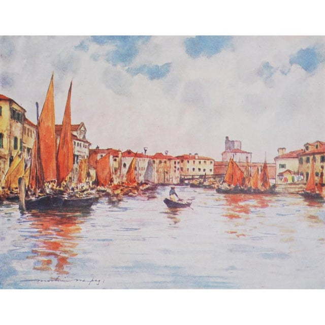 1912 Mortimer Menpes, Venice Original Period Lithographs, Set of 4 For Sale - Image 4 of 7