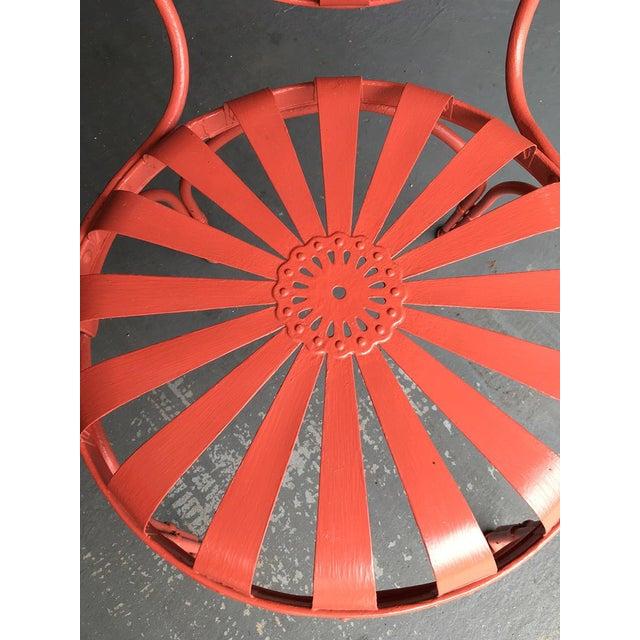Metal Francois Carré Sunburst Patio Furniture For Sale - Image 7 of 13