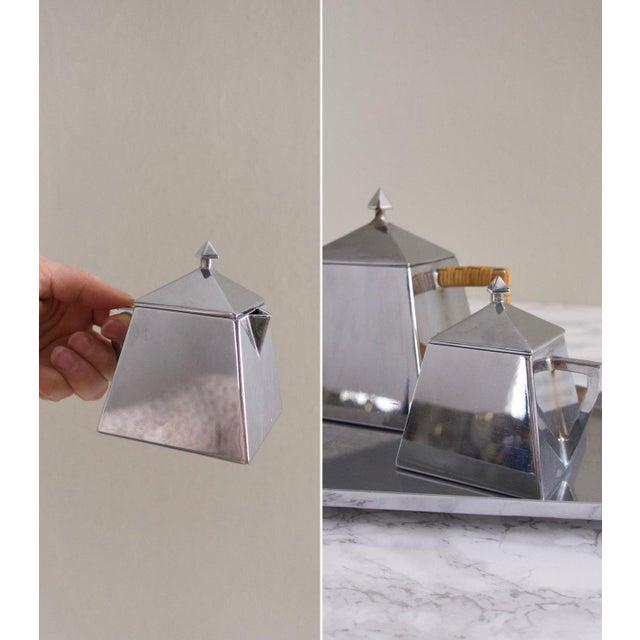 Bauhaus Style Art Deco Silver Tea Service - Image 5 of 6