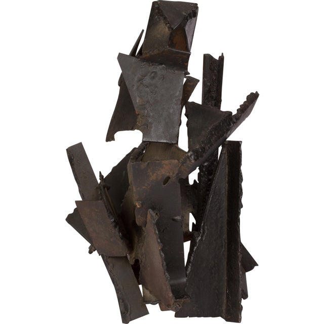 Brutalist Brutalist Style Abstract Metal Sculpture For Sale - Image 3 of 5
