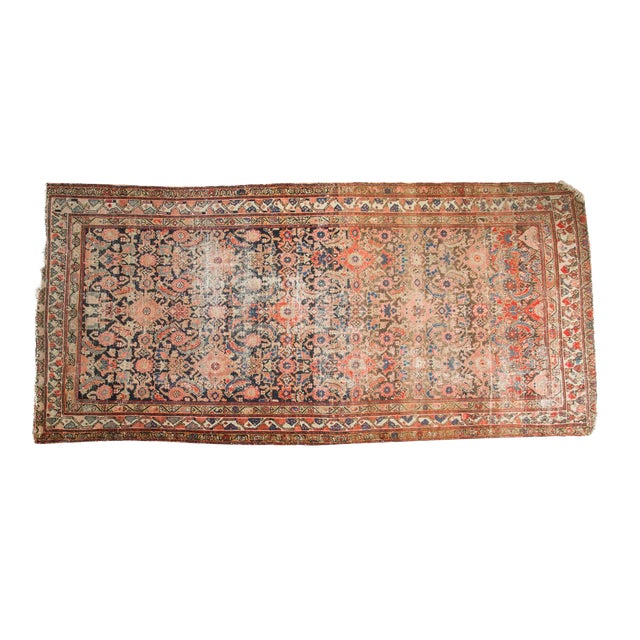 "Antique Hamadan Rug Runner - 4' X 8'10"" - Image 1 of 10"