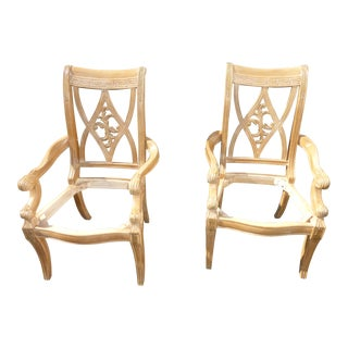 Vintage Bernhardt Dining Room Chairs No Seats - A Pair For Sale
