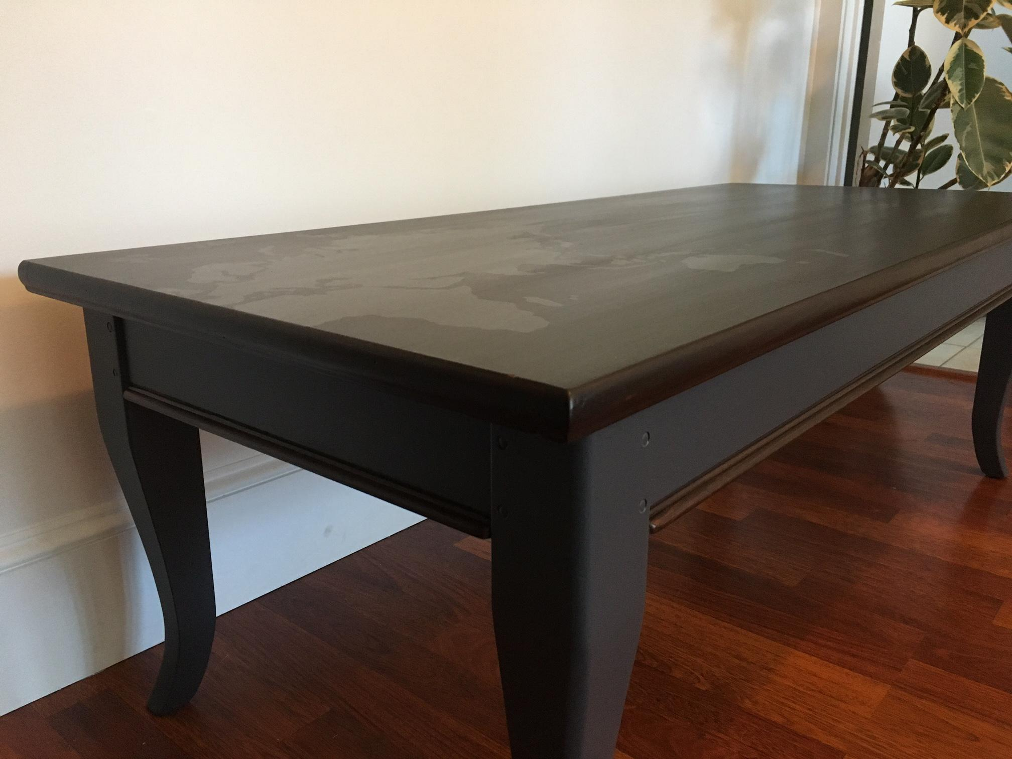 World Map Coffee u0026 Side Table Set - Image 6 of 11  sc 1 st  Chairish & World Map Coffee u0026 Side Table Set | Chairish