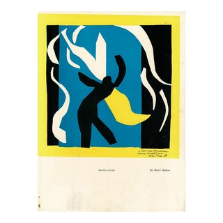 "1939 Henri Matisse ""Abstraction"" Original Period Lithograph and Serge Lifar Photogravure For Sale"