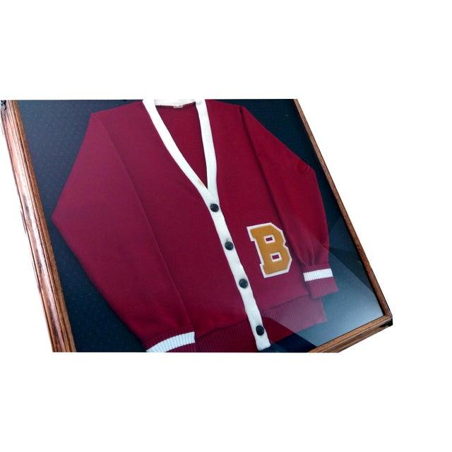 """Framed Varsity Letterman's """"B"""" Sweater - Image 3 of 9"""