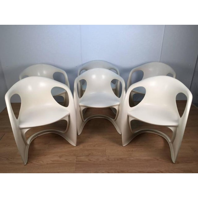 Mid-Century Modern Off White Steen Ostergaard Chairs - Set of 6 For Sale - Image 3 of 8