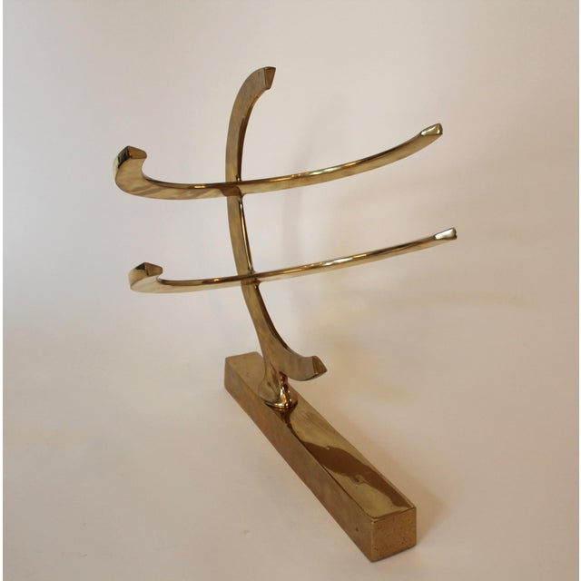 Mid-Century Modern 1970's Mid-Century Modern Brass Sculpture For Sale - Image 3 of 3