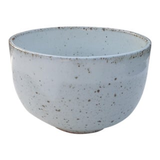White Rustic Modern | Boho Chic Speckled Bowl | Ramen Noodle Bowl | Serving Bowl | Mixing Bowl | Decorative Bowl | III For Sale