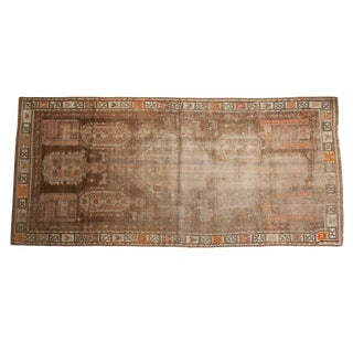 "Distressed Caucasian Runner - 3'8"" X 7'10"" For Sale"