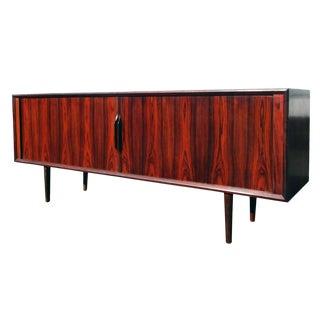 Vintage Midcentury Ib Kofod-Larsen Brazilian Rosewood Credenza for Faarup For Sale