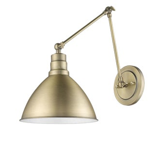 Lenox 1 Light Sconce, Antique Brass For Sale