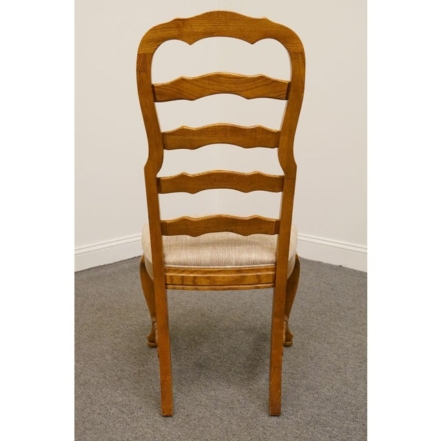 Late 20th Century American Drew Saxony Collection Ladderback Dining Side Chair For Sale - Image 5 of 9