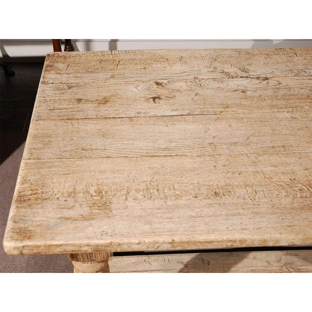 Mid 19th Century Late 19th Century Oak Desk or Writing Table From France For Sale - Image 5 of 8