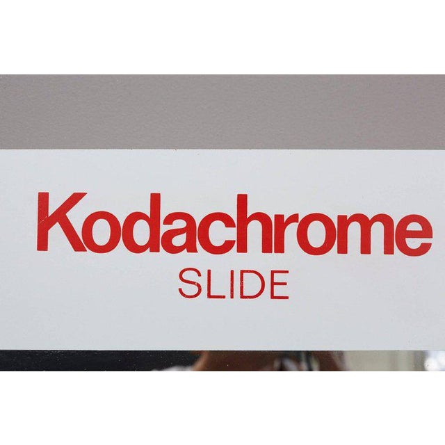 White Think Big! Kodachrome Slide Mirror With Integrated Cabinet, 1980's For Sale - Image 8 of 9