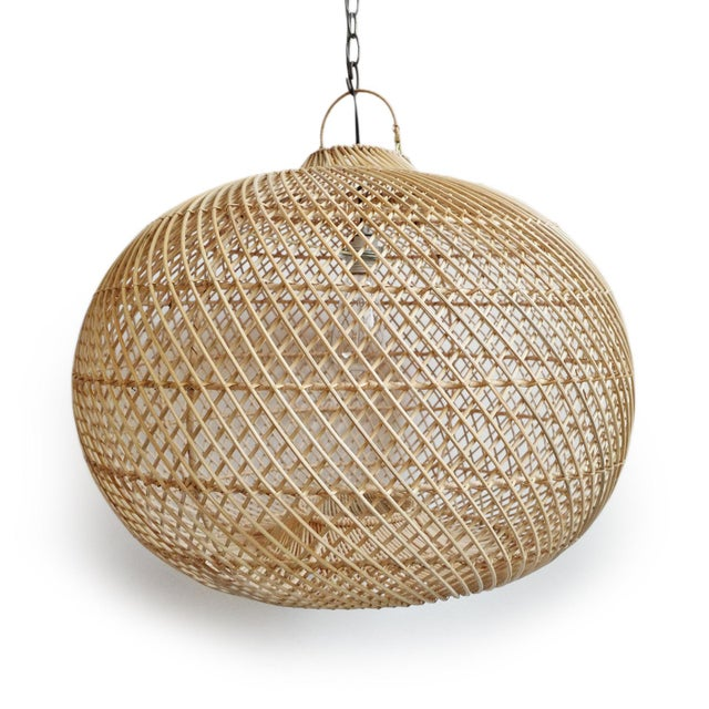 Rattan Donut Lantern For Sale - Image 4 of 6