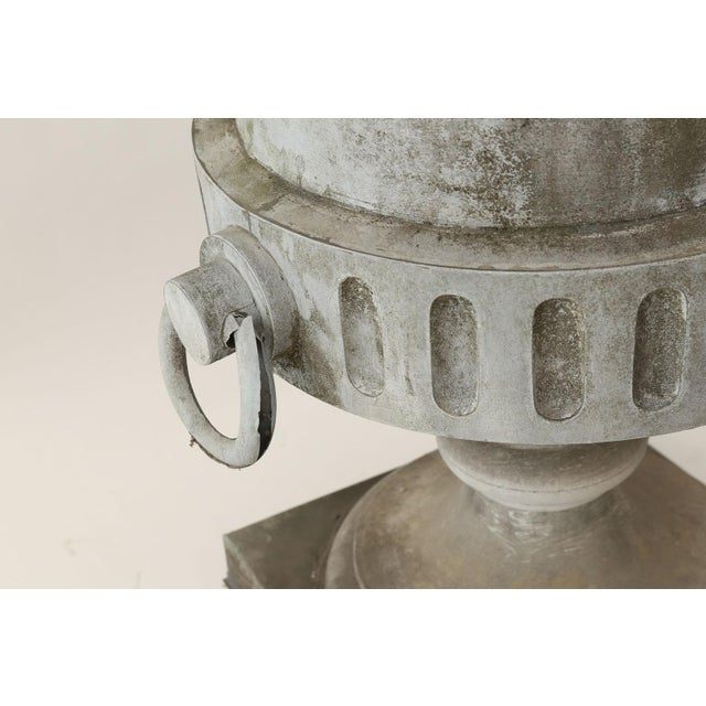 Gray Monumental Urn-Shape Zinc Finial For Sale - Image 8 of 9