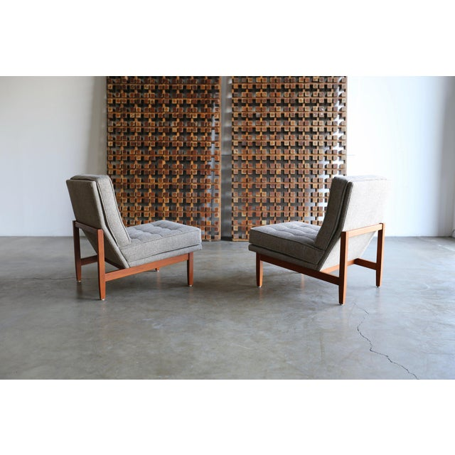 Mid Century Florence Knoll Slipper Lounge Chairs - a Pair For Sale - Image 9 of 12