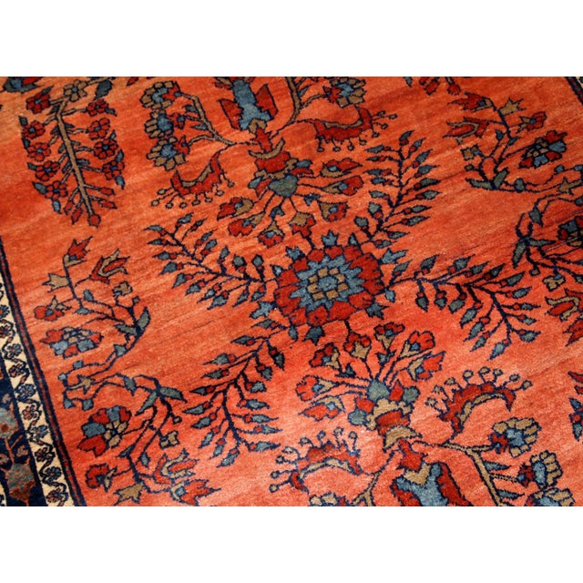 1900s Handmade Antique Persian Sarouk Rug For Sale - Image 4 of 9