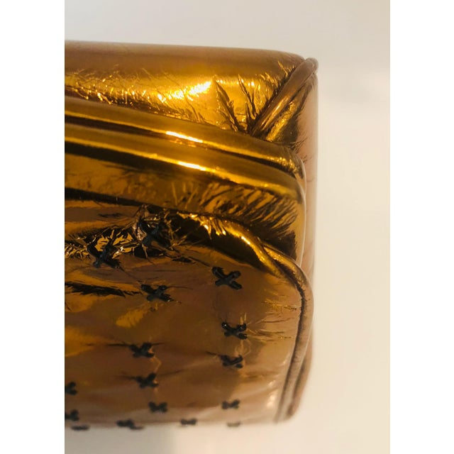 1960s Max Holzman Metallic Copper Leather Clutch For Sale - Image 9 of 11