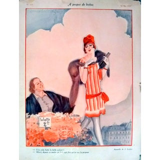 """Leclerc 1927 """"A Propos de Bottes"""" Le Sourire Print"""