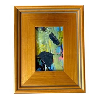 Mini Abstract Expressionist Painting For Sale