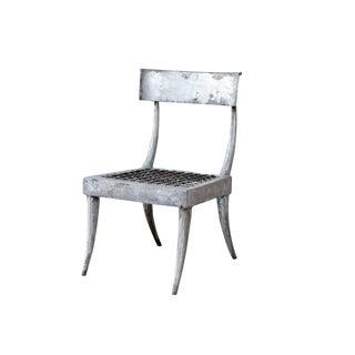 1980s Vintage Metal Klismos Chair For Sale