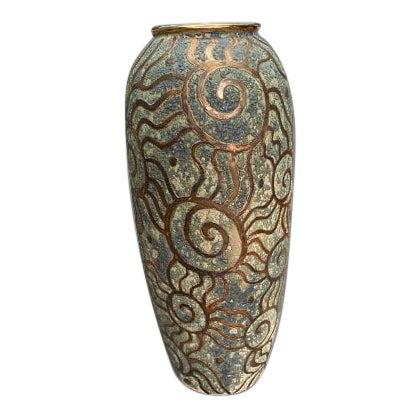 1980s Art Pottery Vase For Sale