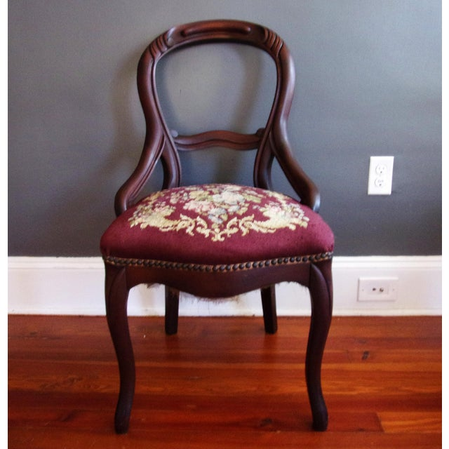 Late 19th Century Victorian Carved Mahogany Balloon Back Chair For Sale - Image 9 of 9