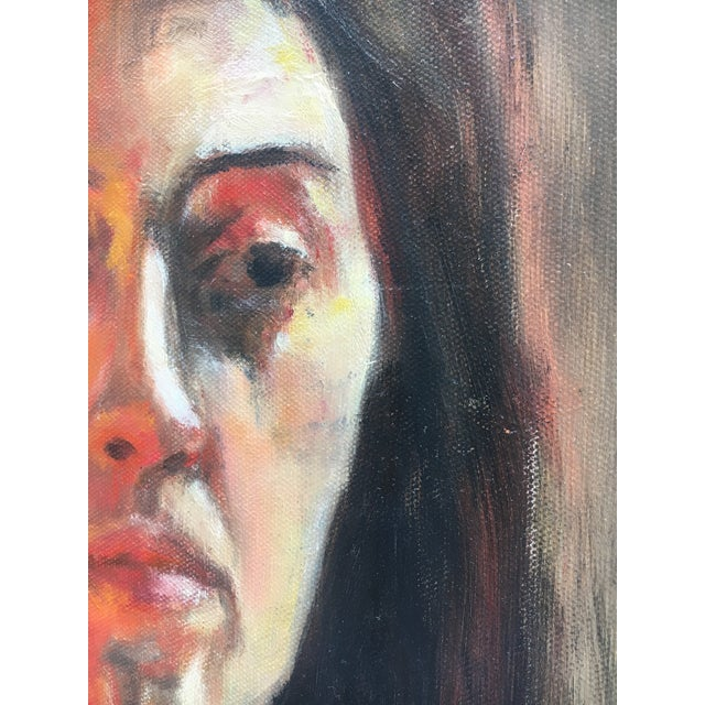 Sara Caruso Portrait Painting For Sale - Image 4 of 8