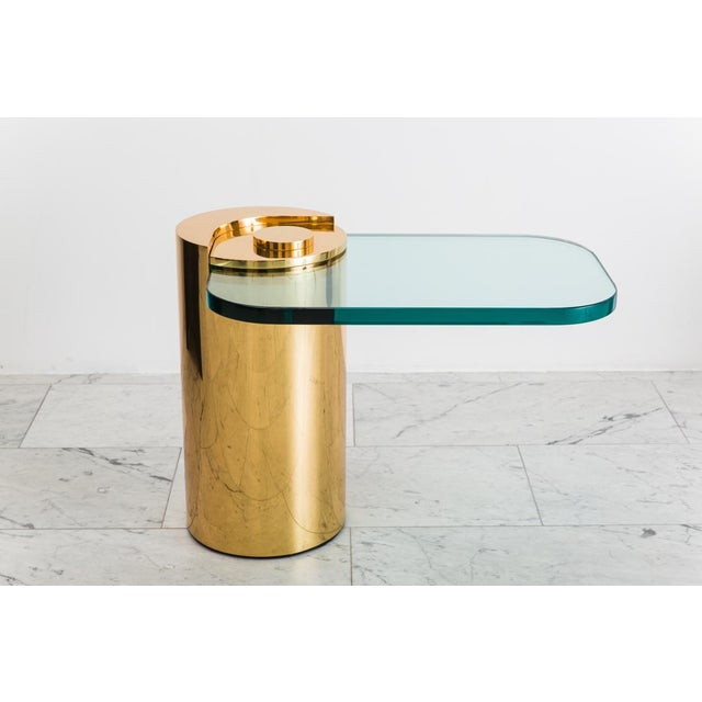 Polished Bronze Sculpture Leg Table, Usa For Sale - Image 10 of 10