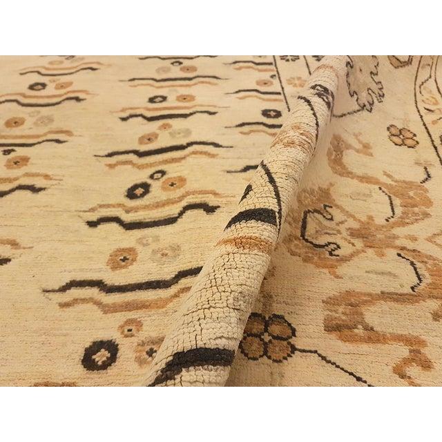 """Kafkaz Peshawar Marinda Tan & Tan Wool Rug - 8'11"""" x 14'10"""" For Sale - Image 5 of 7"""