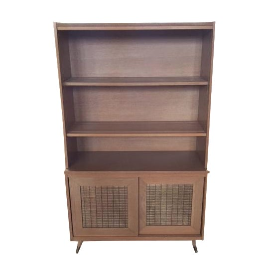 Mid-Century Blonde Hutch - Image 1 of 5