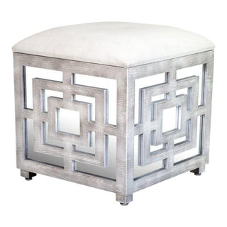 Lyda Mirrored Storage Box Ottoman For Sale