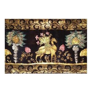 Camel Silk Velvet Pillow For Sale