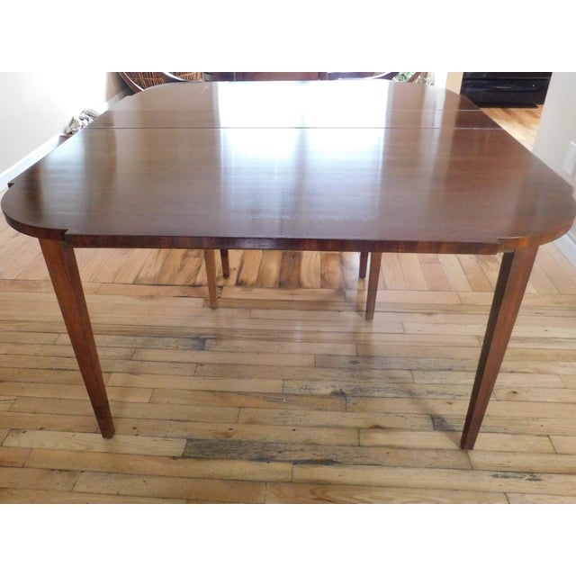 Antique Demi-Lune Mahogany Marquetry Extension Dining Table For Sale In New York - Image 6 of 11
