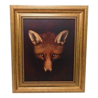 Framed Fox Painting For Sale